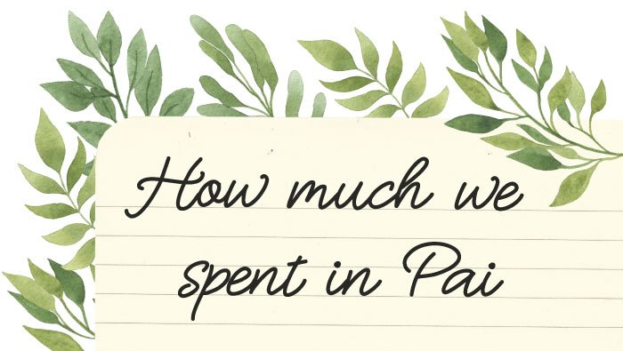 How much we spent in Pai